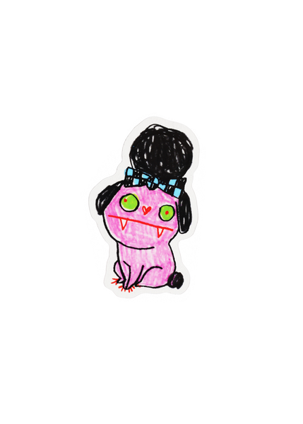 tiny terror poodle sticker