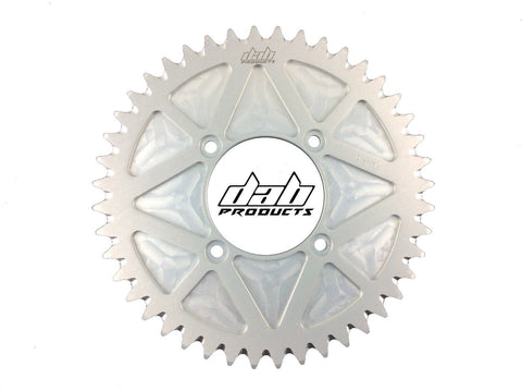 DAB PRODUCTS 4 BOLT REAR FIM STYLE TRIALS SPROCKET 44T TEETH SILVER TRS VERTIGO