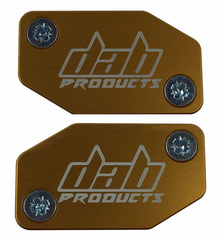 DAB PRODUCTS BRAKTEC PATTERN MASTER CYLINDER COVERS & SCREWS GOLD 1PR