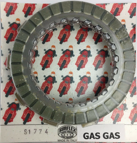 GAS GAS TRIALS 1987-1997  SURFLEX  CLUTCH PLATE SET FIBRES & STEELS S1774