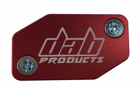 DAB PRODUCTS BRAKTEC PATTERN FRONT BRAKE MASTER CYLINDER COVER & SCREWS RED