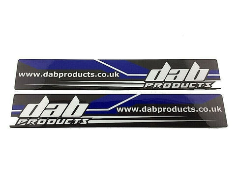 DAB PRODUCTS TRIALS UNIVERSAL LOWER FORK  STICKERS 1PR GAS GAS SHERCO SCORPA ETC