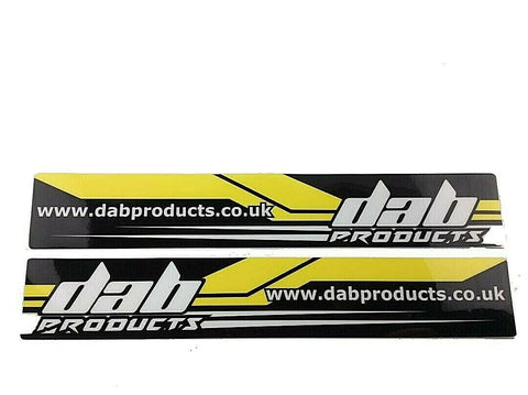DAB PRODUCTS TRIALS UNIVERSAL SWINGING SWING ARM  STICKERS 1PR TRS TWC200 SCORPA