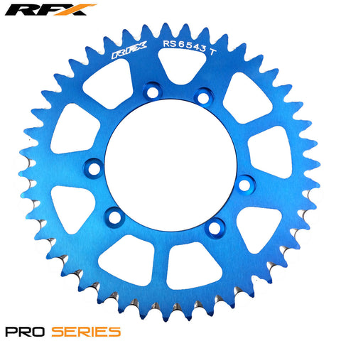 RFX PRO SERIES 6 BOLT REAR TRIALS SPROCKET 43 TEETH BLUE FITS GAS GAS & SHERCO