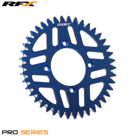 RFX PRO SERIES  4 BOLT REAR TRIALS SPROCKET 42 TEETH BLUE