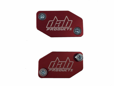 DAB PRODUCTS BRAKTEC PATTERN MASTER CYLINDER COVERS & SCREWS RED 1PR