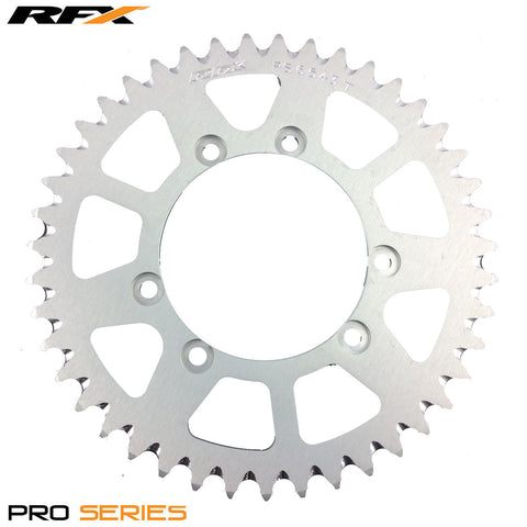 RFX PRO SERIES 6 BOLT REAR TRIALS SPROCKET 43 TEETH SILVER FITS GAS GAS & SHERCO