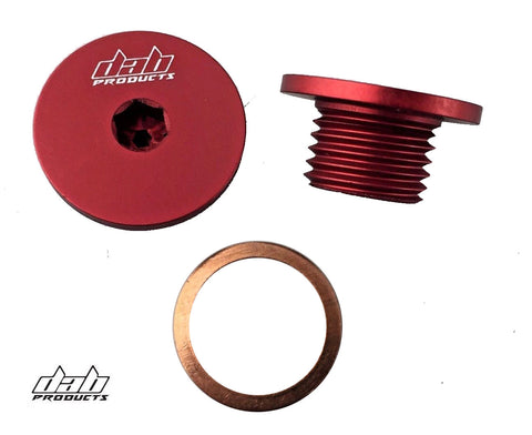 DAB PRODUCTS MONTESA COTA 4RT FLYWHEEL TIMING INSPECTION PLUG SCREW RED