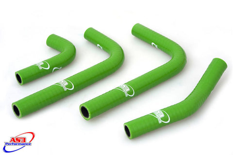 KAWASAKI KX250F 2017  HIGH PERFORMANCE SILICONE HOSE SET GREEN