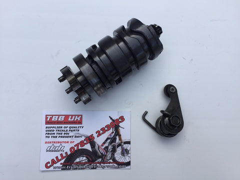 YAMAHA TYZ250 SCORPA SY250  GEAR SELECTOR DRUM & INDEX FINGER