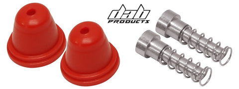 DAB PRODUCTS AJP/GRIMECA MASTER CYLINDER RUBBER BOOTS & PLUNGER SET RED 1PR