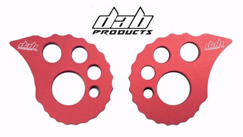 DAB PRODUCTS 17MM REAR AXLE SPINDLE ADJUSTABE OVERSIZE SNAIL CAMS RED 1PR