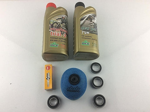 GAS GAS TXT PRO ALL MODELS 125-300cc 2002-2018 SERVICE KIT (1) INC OILS BEARINGS