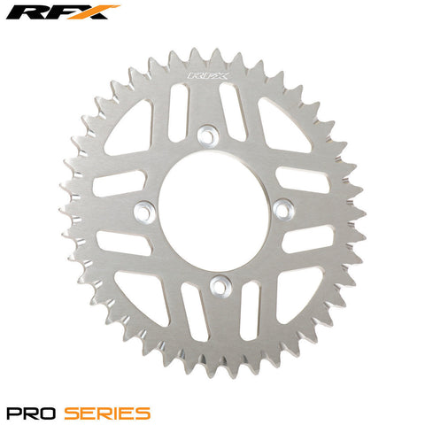 RFX PRO SERIES  4 BOLT REAR TRIALS SPROCKET 43 TEETH SILVER