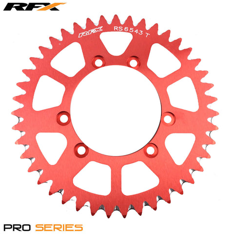 RFX PRO SERIES 6 BOLT REAR TRIALS SPROCKET 43 TEETH RED FITS GAS GAS & SHERCO