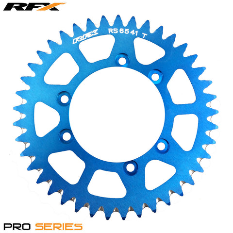 RFX PRO SERIES 6 BOLT REAR TRIALS SPROCKET 41 TEETH BLUE FITS GAS GAS & SHERCO