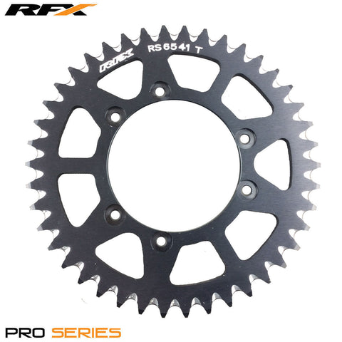 RFX PRO SERIES  6 BOLT REAR TRIALS SPROCKET 41 TEETH BLACK FITS GAS GAS & SHERCO