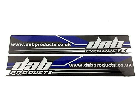 DAB PRODUCTS TRIALS UNIVERSAL SWINGING SWING ARM  STICKERS 1PR SCORPA SHERCO ETC