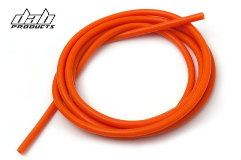 DAB PRODUCTS SILICONE CARB BREATHER HOSE 3MM BORE X 3MTR LONG  ORANGE