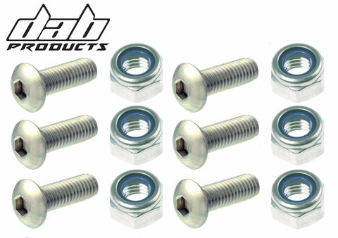 DAB PRODUCTS TRIALS REAR SPROCKET NUT AND BOLT SET  6PC GAS GAS MONTESA SHERCO