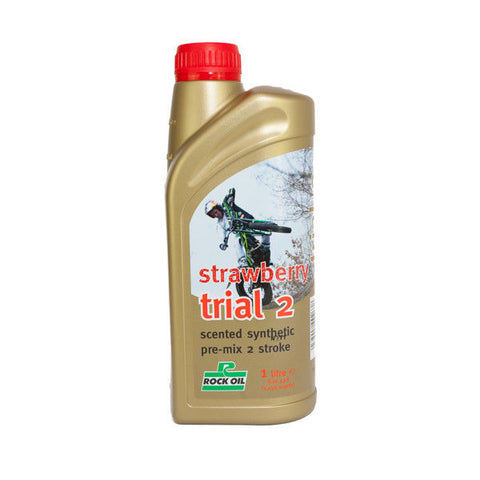 ROCK OIL TRIALS  2T STRAWBERRY OIL 1LTR