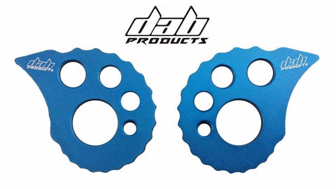 DAB PRODUCTS 17MM REAR AXLE SPINDLE ADJUSTABE OVERSIZE SNAIL CAMS BLUE 1PR