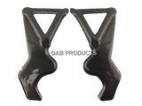 DAB PRODUCTS VERTIGO ICE HELL COMBAT REPLICA CARBON WEAVE LOOK FRAME PROTECTORS COVERS