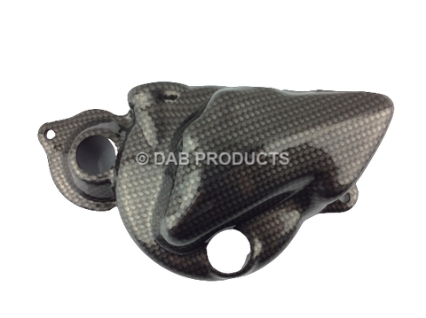 DAB PRODUCTS BETA REV50/80 & EVO 80 CARBON WEAVE CLUTCH / WATERPUMP COVER