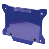 DAB PRODUCTS FACTORY TRIALS NUMBER BOARD PLATE WITH WINDOW BLUE