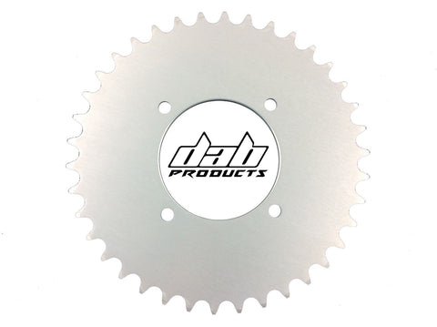 DAB PRODUCTS 4 BOLT REAR FIM STYLE TRIALS SPROCKET 43T TEETH SILVER GAS GAS BETA