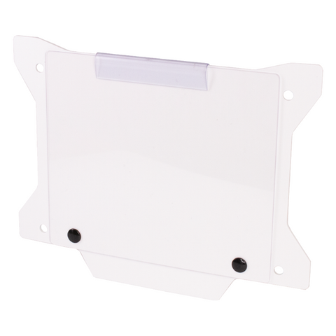 DAB PRODUCTS FACTORY TRIALS NUMBER BOARD PLATE WITH WINDOW WHITE