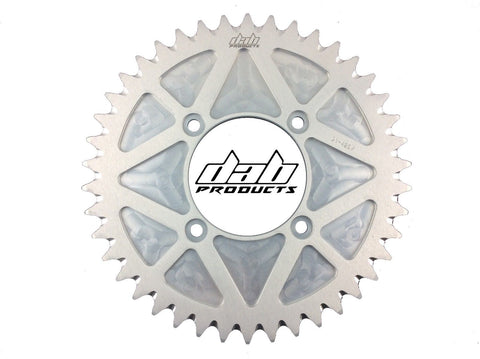 DAB PRODUCTS 4 BOLT REAR FIM STYLE TRIALS SPROCKET 42T TEETH SILVER MONTESA BETA