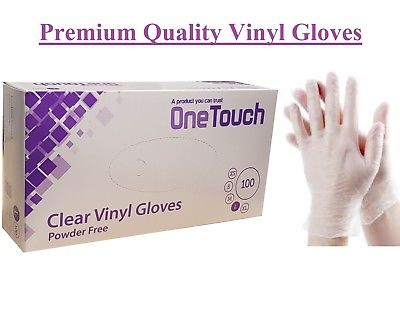 ONE TOUCH CLEAR VINYL POWDER FREE WORKSHOP GLOVES LARGE X100