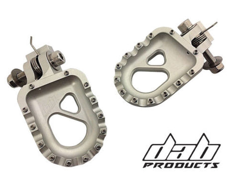 DAB PRODUCTS 55MM PERFORMANCE ALLOY TRIALS FOOTRESTS FOOTPEGS SILVER GAS GAS 4RT