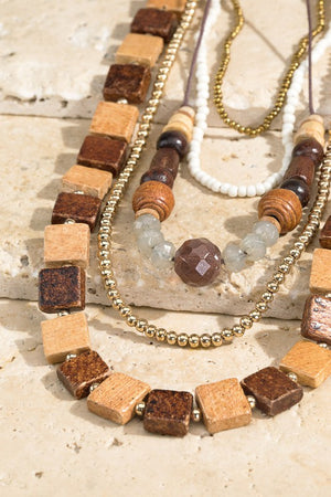 Blocked and Beautiful Layered Necklace
