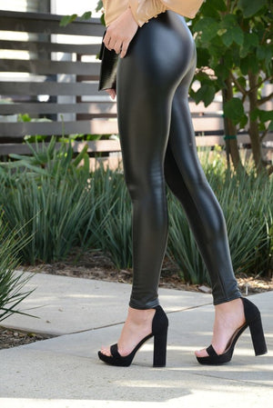 Falling for You Faux Leather Leggings
