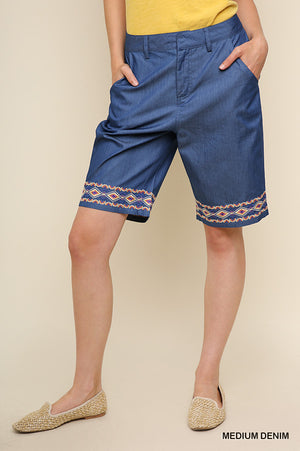 A Little Embroidery Shorts