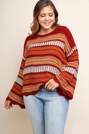 Waves in Winter Sweater