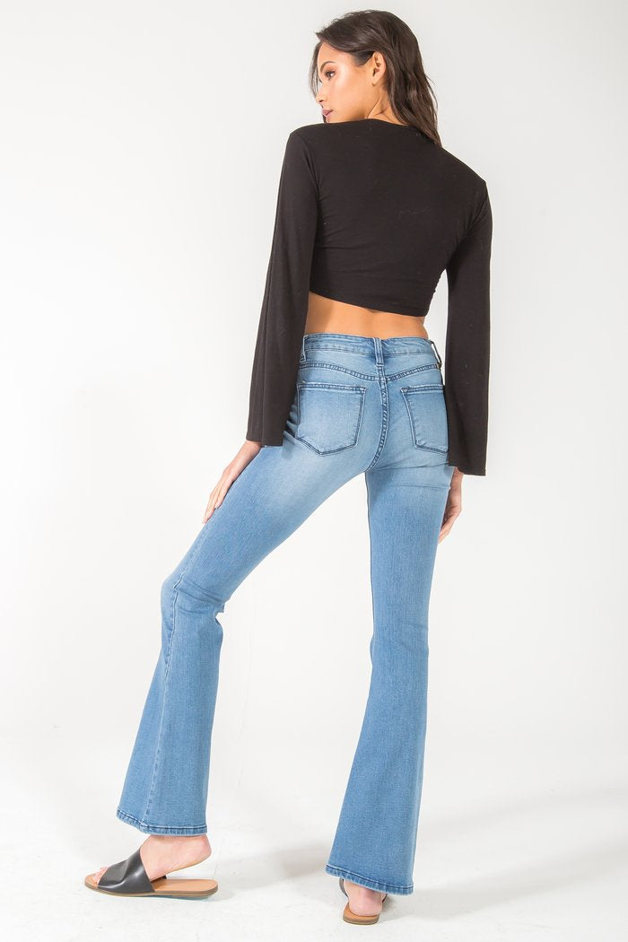 Get Your Groove on Flare Jeans (light)