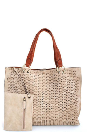 Laser Sharp Focus Tote w/ coin pouch