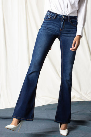 Get Your Groove On Flare Jeans (medium wash)