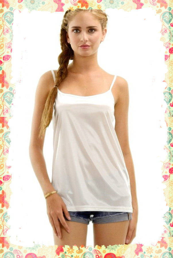 Smooth Moves Silk Cami - Boho Closet Boutique - 1