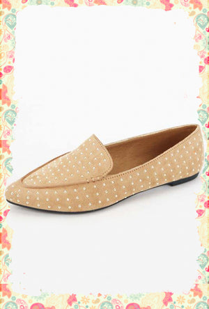 Good as Gold Pointed Toe Flat
