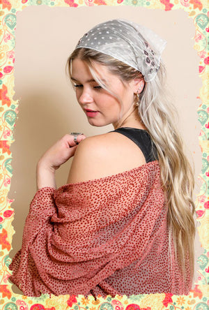 Tulle-taly Adorable Embroidered Scarf