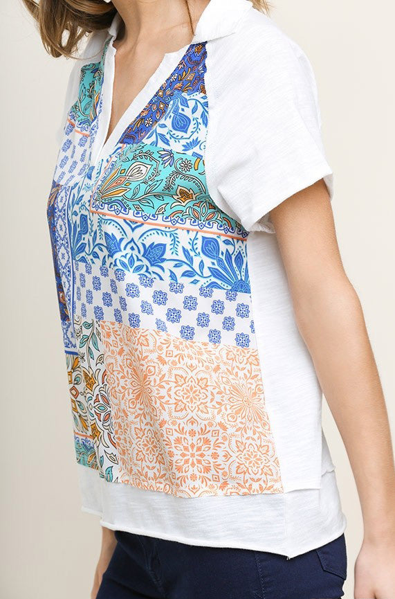 Life in Patches Patterned Tee