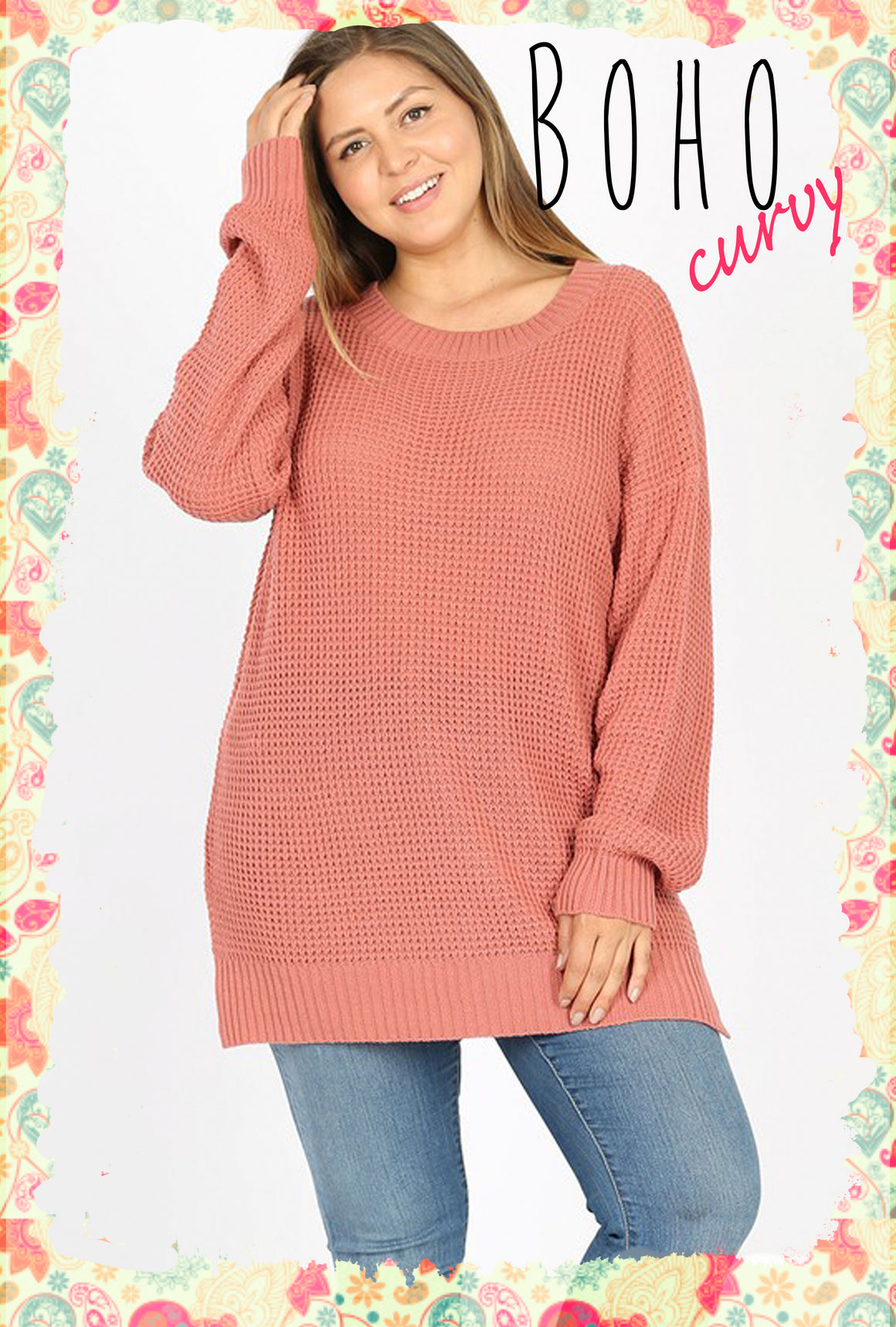 Curvy Cozy as She Goes Sweater