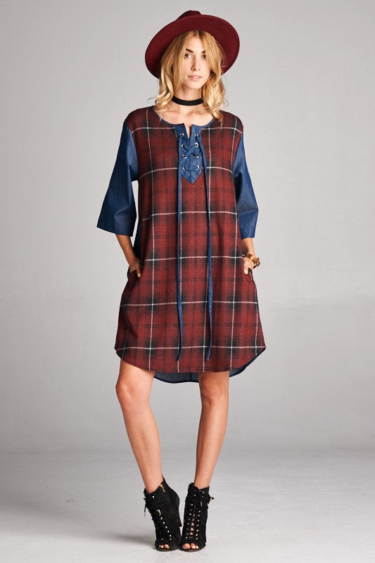 Pumped for Plaid Dress