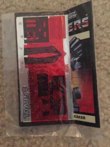 VINTAGE TRANSFORMERS G1 PARTS PIECES 1984 TRAILBREAKER SEALED PACKET