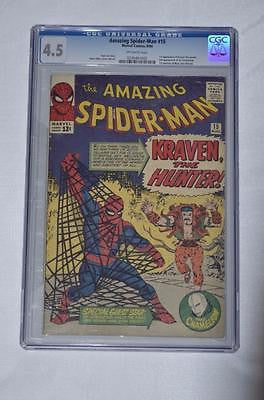 MARVEL 1962 SERIES AMAZING SPIDER-MAN #15 CGC 4.5 OFF WHITE PAGES