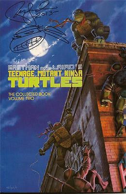 MIRAGE TMNT TEENAGE MUTANT NINJA TURTLES COLLECTED BOOK #2 UNREAD SIGNED LAIRD
